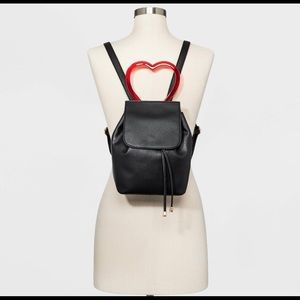 Mini backpack with heart handle!